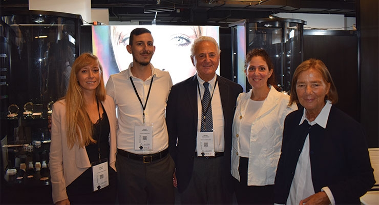 Technocosmesi: president Francesco Fausti (center) and team