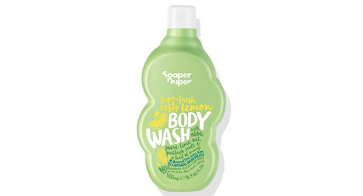 Soaper Duper recently launched its distinctive bubble-shaped packaging using PCR plastic. Within its product range, the green HDPE bottles are made of 100% PCR plastic. According to the brand, since its launch at the end of 2016, Soaper Duper has saved 8.2 tons of plastic.