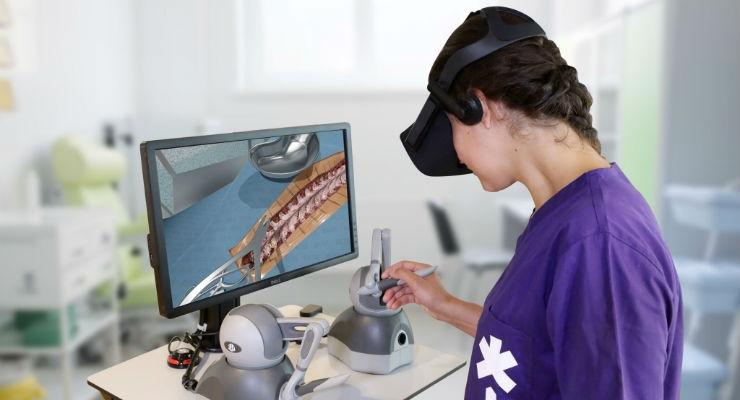 FundamentalVR's haptic and VR medical simulation platform. Image courtesy of FundamentalVR.