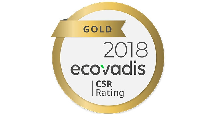 The glass bottle specialist is awarded the EcoVadis Gold rating for its social and environmental practices.