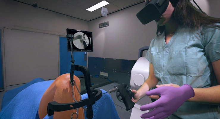 With the implementation of Osso VR's technology at the school, students get an extra edge in this competitive industry with the ability to get hands-on practice far more than the average rep in training. Images courtesy of Osso VR.