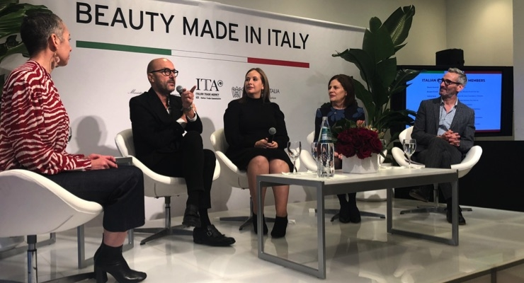 Panelists Rossano Ferretti, Meredith Kerekes, Linda G. Levy and Vincent Longo. WWD