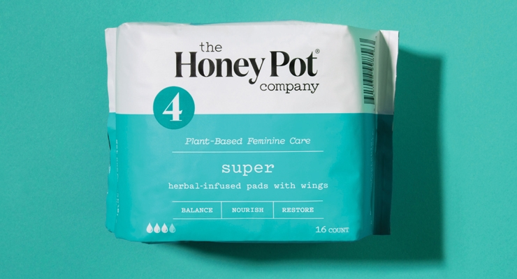 Honey Pot sanitary napkins combine natural  plant essential oils with super absorbent technology.