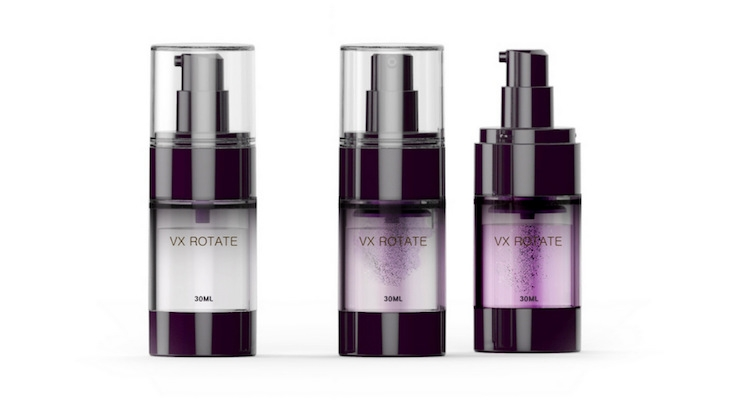 Yonwoo/PKG Group's VX Rotate collection offers an innovative solution for 'fresh mix' skincare formulas and 'booster' ingredients that are added to a product just before use.