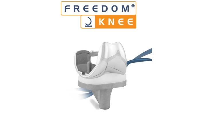 The Freedom Knee system allows patients to achieve optimal high-flexion motion. Image courtesy of PR Newswire.