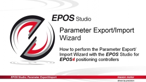 Parameter Export/Import Wizard