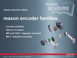 Maxon Encoder Families