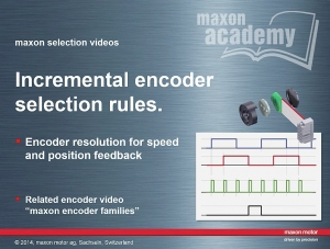 Incremental Encoder Selection Rules