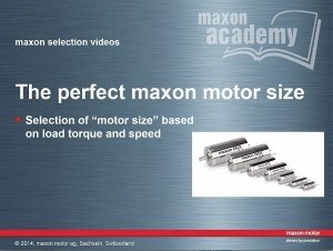 The Perfect Maxon Motor Size