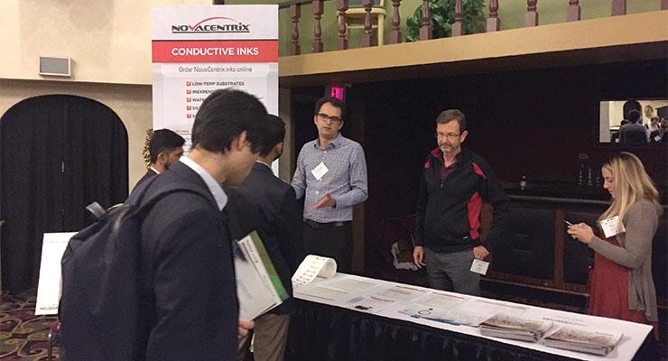 Dr. Vahid Akhavan at NovaCentrix's tabletop.