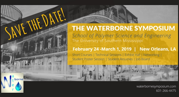 The Waterborne Symposium Announces Plenary Lecturer