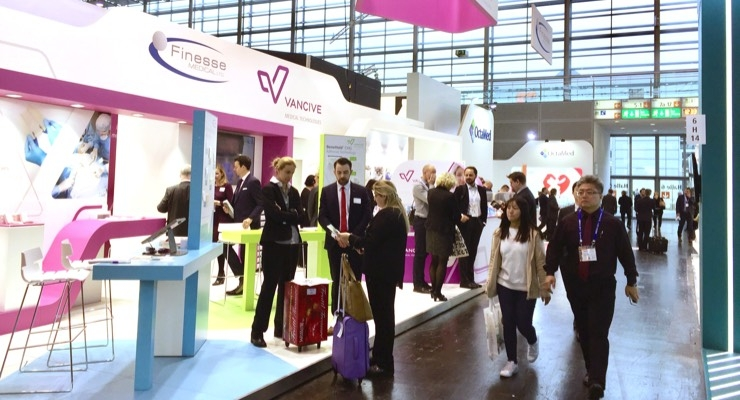 Vancive Medical Technologies and Finesse Medical Ltd. stand at Medica 2018. Image courtesy of Vancive Medical Technologies.