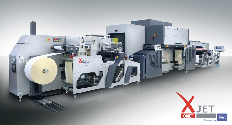 Italian press manufacturer Omet has partnered with digital inkjet specialist Durst for the XJet hybrid press.