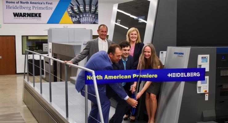 First Heidelberg Primefire 106 Serial Machine Starts Production at Warneke Paper Box