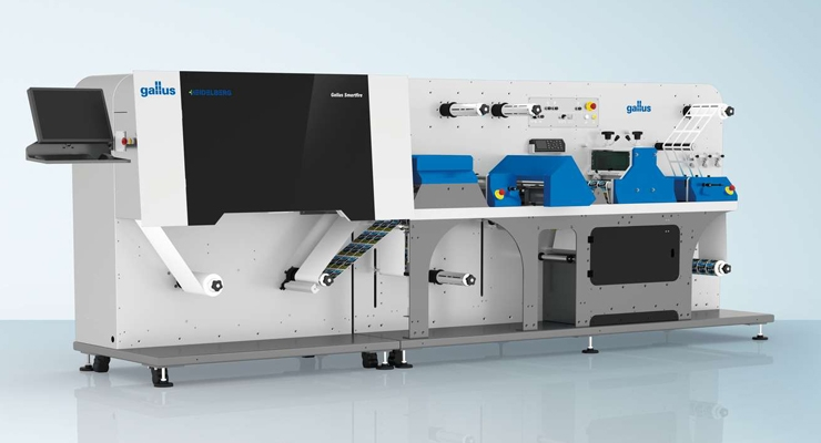 The new Gallus Smartfire digital press