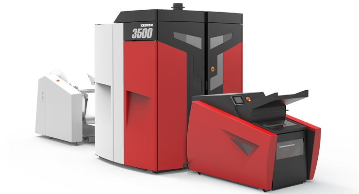 A Xeikon 3500 digital label press