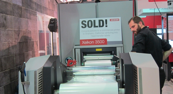 Xeikon reported numerous sales, including this 3500 to a California converter.