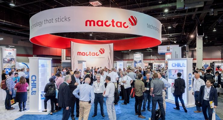 Mactac showcased its CHILL AT hot-melt adhesive.