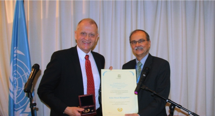Canatu Founder First Finnish Recipient of UNESCO Nanosciences Medal