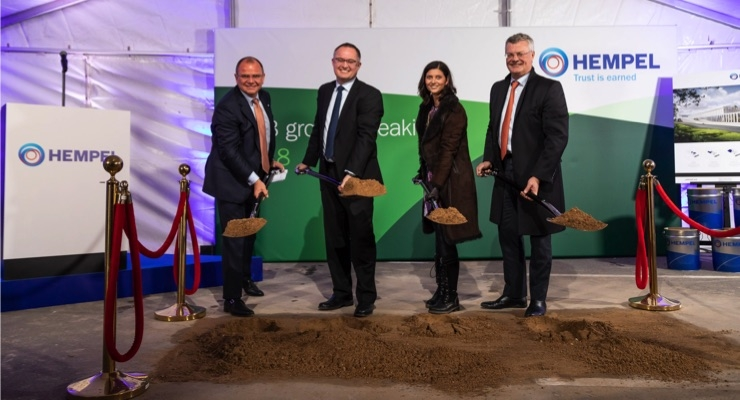 Hempel Breaks Ground on New R&D, Test Center