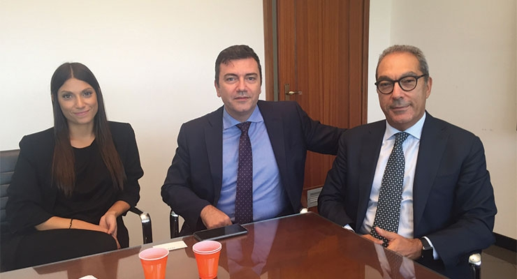 Baralan (L-R): Caroline Baranes, Maurizio Ficcadenti, Roland Baranes, CEO