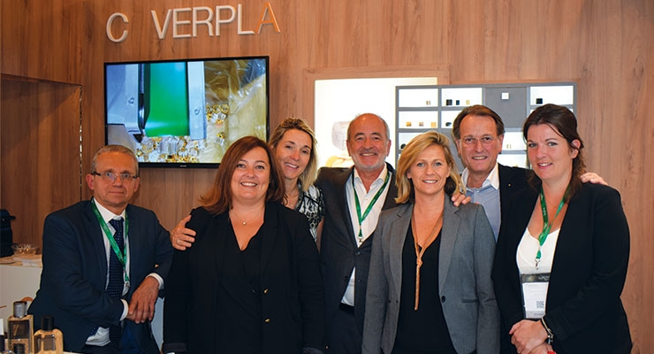 Coverpla (L-R): Henry Crelier, French sales; Carole Pastorelli, Export sales; Sabrine Lelong, Export Sales; Bruno Diepois, CEO; Florence Ghilardi, French sales; Philip Muller, German representative; Sonia Foussier, Mexico sales