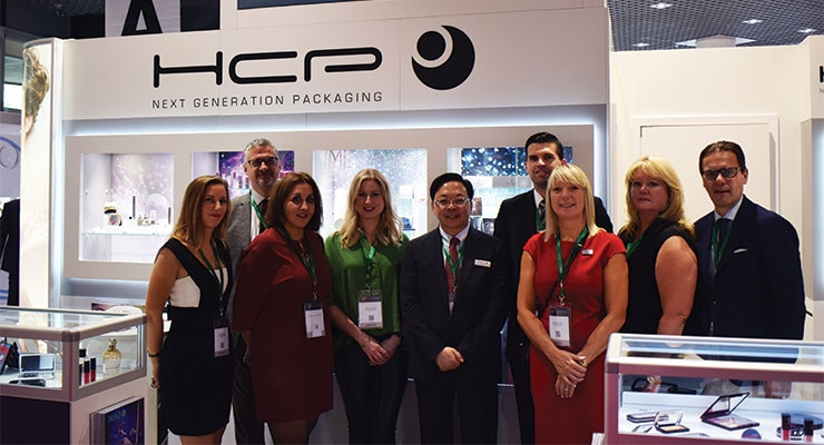 HCP Packaging (L-R): Claire Marino, HCP France; Thomas Gibtner, HCP-RUSI Germany; Christelle Godefroit, HCP UK; Cheryl Morgan, HCP UK; Eddy Wu, president & CEO, HCP Group; Thomas Hübner, HCP-RUSI Germany; Jackie Mantle, managing director, HCP UK; Cheryl Bisset, HCP USA; Eric Firmin, president, HCP France