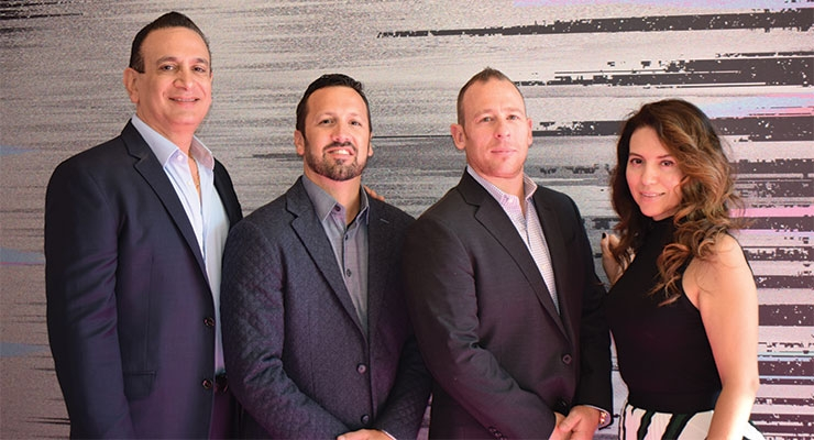 HCT Group (L-R): Anthony DeMarco, Christian Olivari, Ryan Conway, Paulina Ramirez