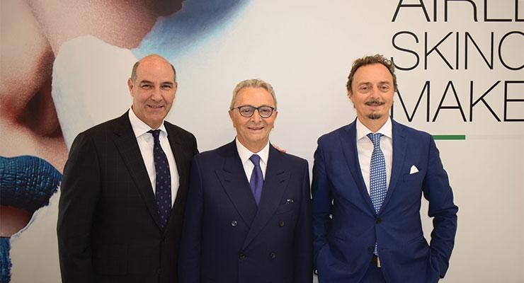 Lumson (L-R): Emanuele Mazzei, CEO U.S. operations; Remo Moretti; Matteo Moretti, CEO