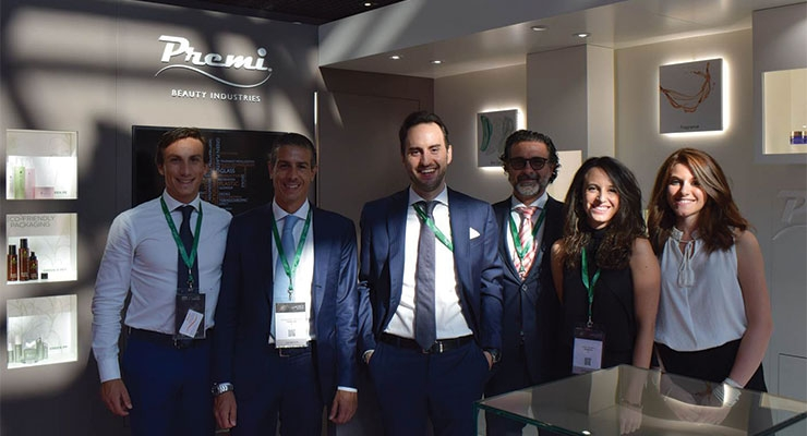 Premi (L-R): Federico Prestini, managing director; Alessandro Prestini, CEO; Andrea Pollio, sales supervisor; Claude Frison, export manager; Laura Cifarelli, marketing specialist; Adele Garofalo, marketing dept.