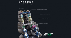 Nexxt Spine Launches SAXXONY Posterior Cervical Thoracic Spine System