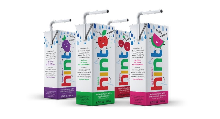 hint Launches Flavored Water Line for Kids