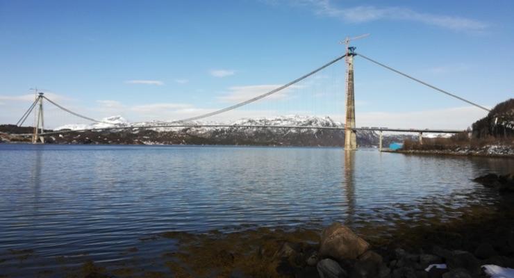 The Hålogaland bridge took five years to build.