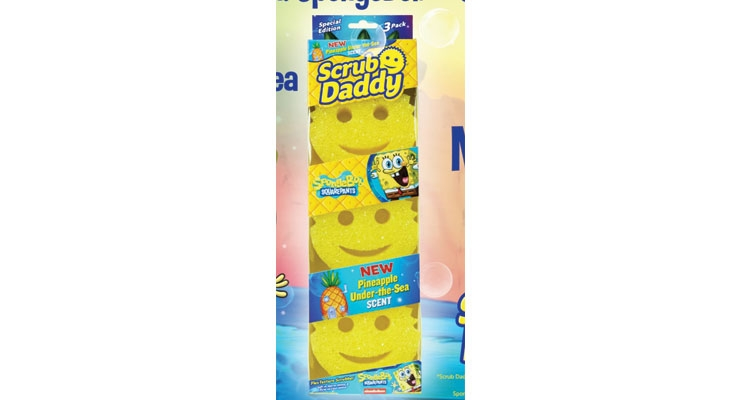 "Scrub Daddy partnered with SpongeBob to create a ""Pineapple Under the Sea"" scented product."