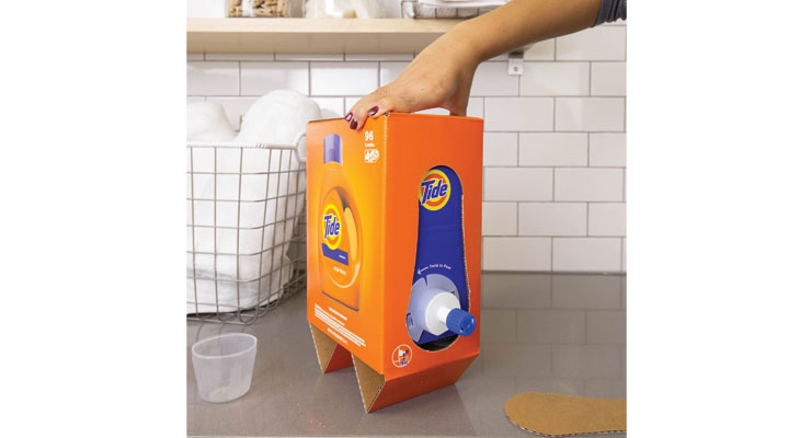 Less is more: Procter & Gamble maintains it has dramatically reduced  the weight of its Tide package with the Eco-Box.