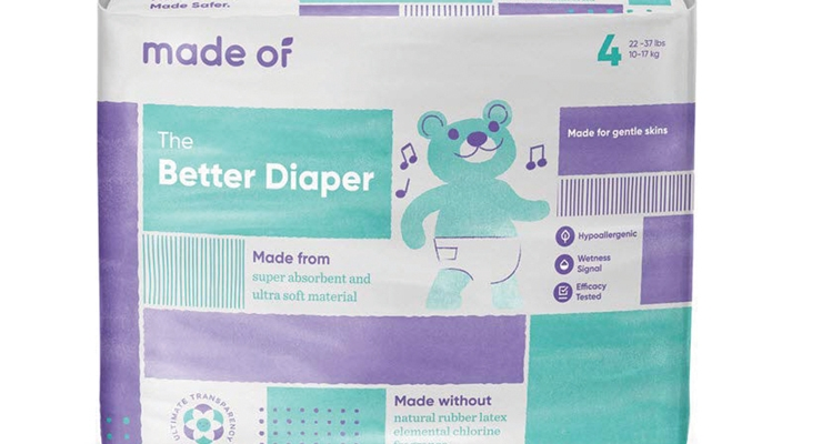 Made Of diapers offer total transparency not only in raw material sourcing but in its manufacturing practices.