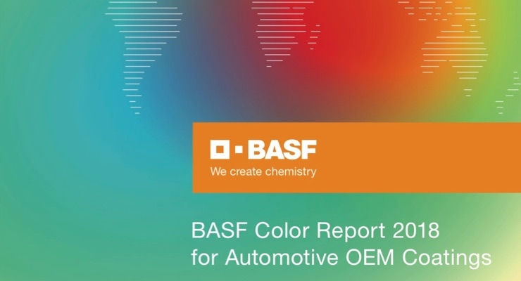 BASF Analyzes 2018 Automotive Color Distribution