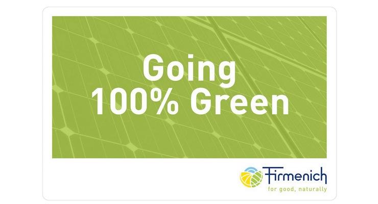 Firmenich Reaches 100% Renewable Power