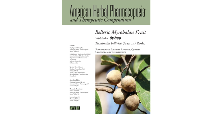 AHP Releases Monograph & Therapeutic Compendium for Belleric Myrobalan Fruit