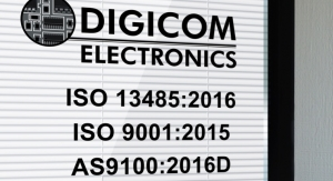 Digicom Electronics Upgrades Medical Device Quality Certification to ISO 13485:2016