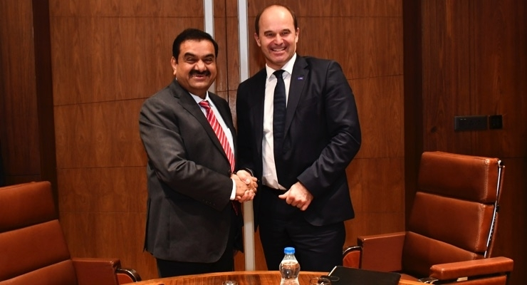 Gautam Adani, chairman of the Adani Group (left) and Dr. Martin Brudermüller, chairman of the board of executive directors, BASF SE/Courtesy BASF