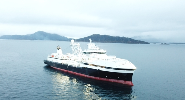 Aker BioMarine and VARD Launch World's First Purpose-Built Krill Harvesting Vessel