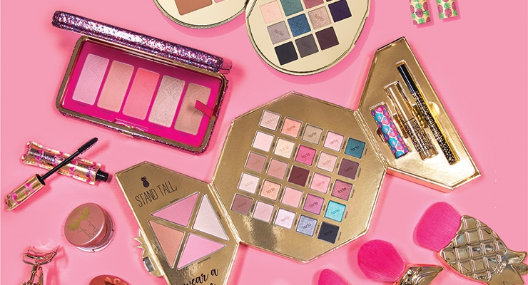 tarte's unconventional 'holiday in paradise'  collection features flamingos and pineapples.