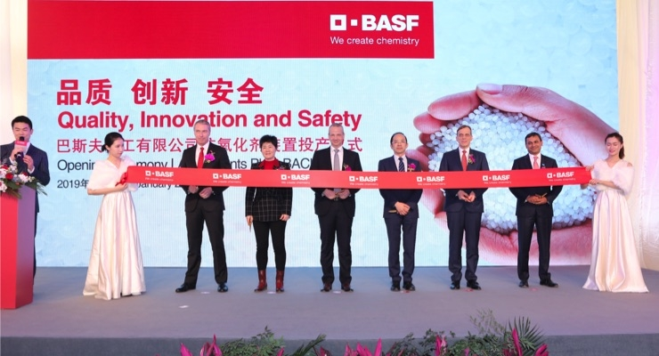 BASF Opens First Phase of New Shanghai Antioxidants Manufacturing Plant
