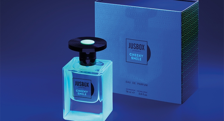 Jusbox's Fragrance Comes in Fluorescent Packaging