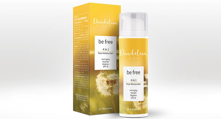 Dandelion Sun Launches 4-in-1 Anti-Aging Moisturizer with SPF