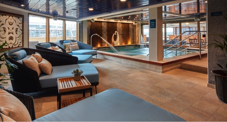 Inside the Mareel spa experience on the Queen Elizabeth.