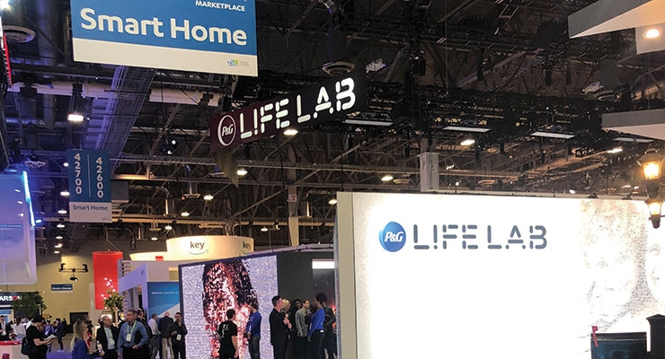"Procter & Gamble's ""LifeLab"" on the showfloor at CES, inside the Sands Expo Center"