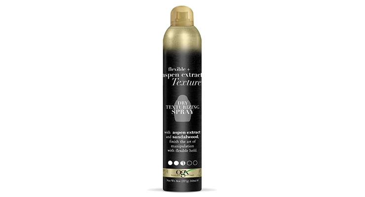 Dry texturizing spray is new at OGX.