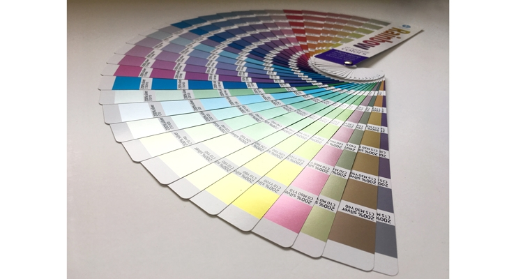 HP's ElectroInk color gamut provides a wide range of metallic effects.